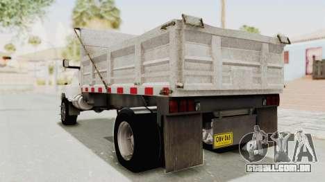 Chevrolet Kodiak Dumper Truck para GTA San Andreas esquerda vista