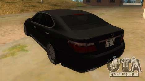 Lexus LS600HL 2008 para GTA San Andreas traseira esquerda vista