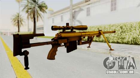 Cheytac M200 Intervention Gold para GTA San Andreas segunda tela