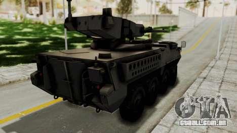 M1128 Mobile Gun System para GTA San Andreas esquerda vista