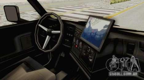 Chevrolet Kodiak Dumper Truck para GTA San Andreas vista traseira