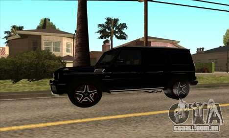 Mercedes G63 Biturbo para GTA San Andreas traseira esquerda vista