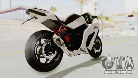 Kawasaki Ninja ZX-10R Modification para GTA San Andreas esquerda vista