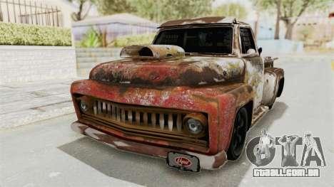 GTA 5 Slamvan Race PJ2 para GTA San Andreas vista traseira