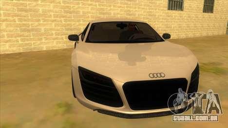 Audi R8 5.2 V10 Plus para GTA San Andreas vista traseira