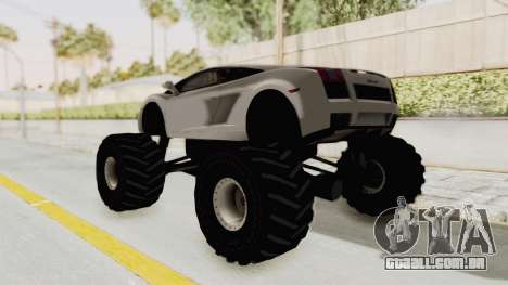 Lamborghini Gallardo 2005 Monster Truck para GTA San Andreas esquerda vista