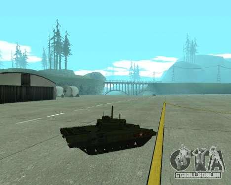 T-14 Armata para vista lateral GTA San Andreas