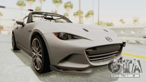 Mazda MX-5 Cup 2015 v2.0 para GTA San Andreas vista direita