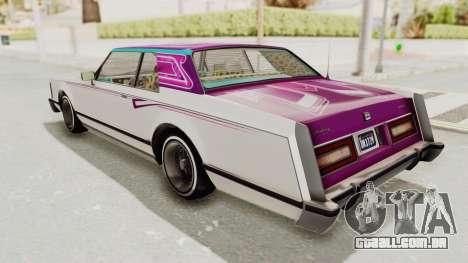 GTA 5 Dundreary Virgo Classic Custom v1 para o motor de GTA San Andreas