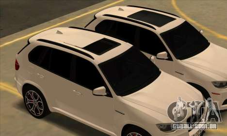 BMW X5M para GTA San Andreas vista interior