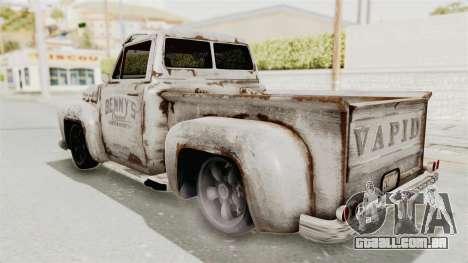GTA 5 Slamvan Lowrider para GTA San Andreas vista direita