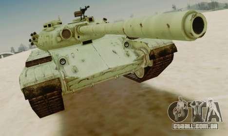 O T-72A para GTA San Andreas esquerda vista