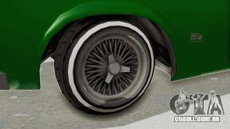GTA 5 Declasse Sabre GT2 para GTA San Andreas vista traseira