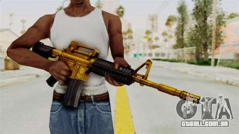 M4A1 Gold para GTA San Andreas terceira tela
