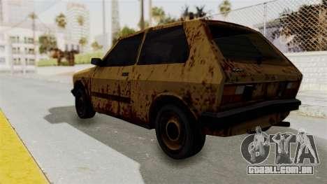 Zastava Yugo Koral 55 Rusty para GTA San Andreas esquerda vista