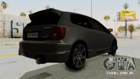 Honda Civic Type R EP3 para GTA San Andreas vista direita