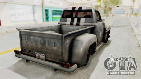 GTA 5 Slamvan Stock PJ2 para GTA San Andreas esquerda vista