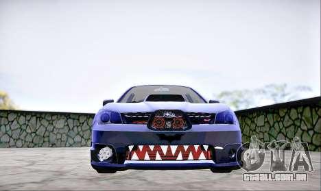 Subaru Impreza WRX STI Dark Knight para GTA San Andreas vista direita