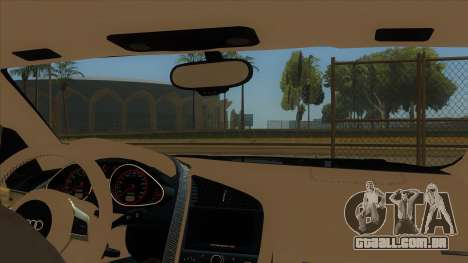 Audi R8 5.2 V10 Plus para GTA San Andreas vista interior