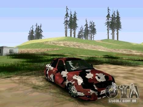 Lada Priora Camouflage para GTA San Andreas traseira esquerda vista