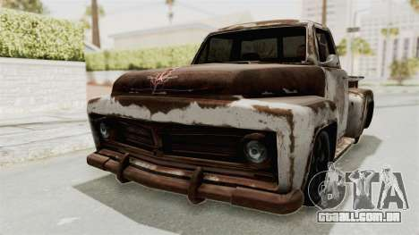 GTA 5 Slamvan Stock PJ2 para vista lateral GTA San Andreas