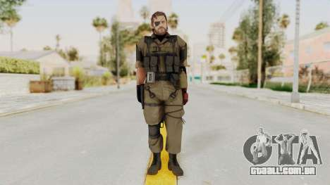 MGSV The Phantom Pain Venom Snake Olive Drab para GTA San Andreas segunda tela