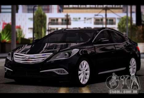 Hyundai Grandeur 2015 STOCK para GTA San Andreas vista traseira