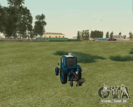MTZ 80 Bielorrússia para GTA San Andreas traseira esquerda vista