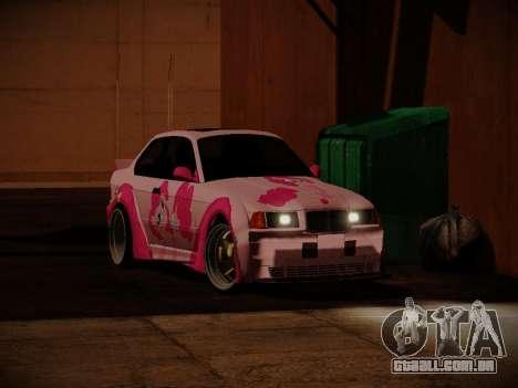 BMW M3 E36 Pinkie Pie para GTA San Andreas vista direita