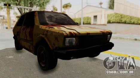 Zastava Yugo Koral 55 Rusty para GTA San Andreas vista direita