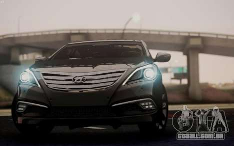 Hyundai Grandeur 2015 STOCK para GTA San Andreas vista interior