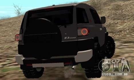 Toyota FJ Cruiser para GTA San Andreas vista traseira