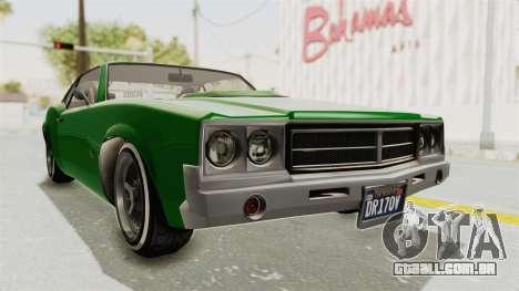 GTA 5 Declasse Sabre GT2 para GTA San Andreas vista direita