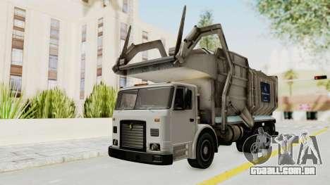 New Trashmaster para GTA San Andreas traseira esquerda vista