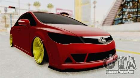Honda Civic FD6 para GTA San Andreas vista direita