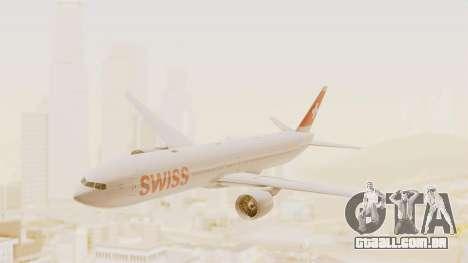 Boeing 777-300ER Swiss International Air Lines para GTA San Andreas traseira esquerda vista
