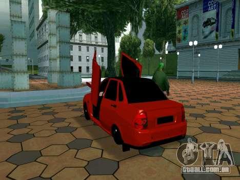 Lada Priora Lambo para GTA San Andreas vista traseira