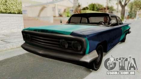 Beater 1962 Voodoo para GTA San Andreas traseira esquerda vista