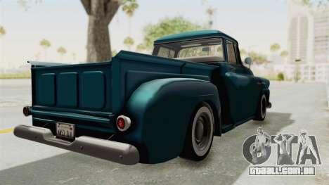 Chevrolet Apache 1958 para GTA San Andreas traseira esquerda vista