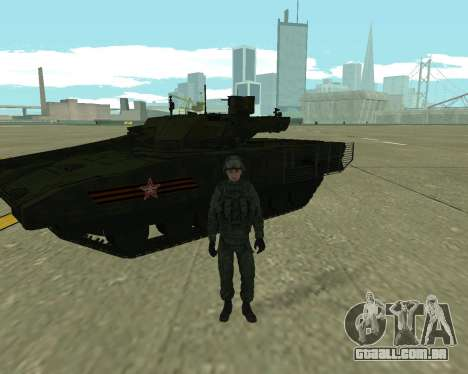 T-14 Armata para GTA San Andreas vista direita