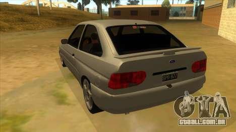 Ford Escort V2 para GTA San Andreas traseira esquerda vista