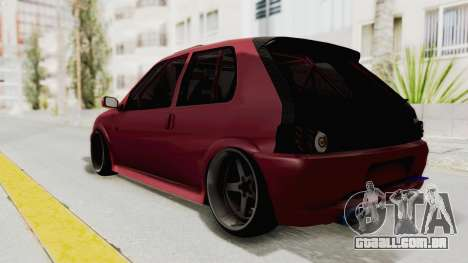 Peugeot 106 V2 RWD Greek Style para GTA San Andreas traseira esquerda vista