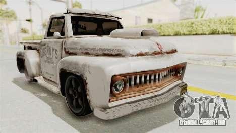 GTA 5 Slamvan Lowrider PJ2 para GTA San Andreas traseira esquerda vista