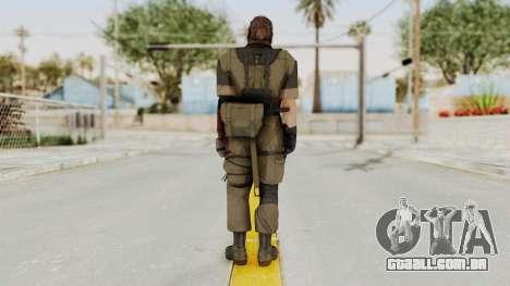MGSV The Phantom Pain Venom Snake Olive Drab para GTA San Andreas terceira tela