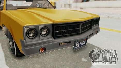 GTA 5 Declasse Sabre GT2 A IVF para GTA San Andreas vista superior
