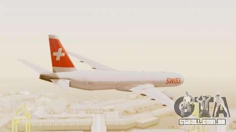 Boeing 777-300ER Swiss International Air Lines para GTA San Andreas vista direita