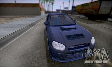 Subaru impreza WRX STi LP400 v2 para GTA San Andreas traseira esquerda vista