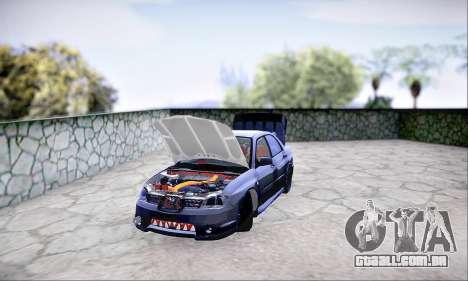 Subaru Impreza WRX STI Dark Knight para GTA San Andreas vista traseira