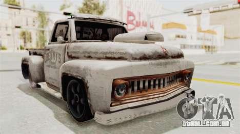 GTA 5 Slamvan Lowrider para GTA San Andreas traseira esquerda vista