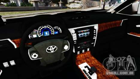 Toyota Camry Tuning V2 para GTA 4 vista direita